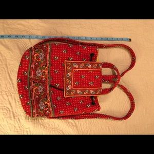 Vera Bradley Red Quilted Backpack